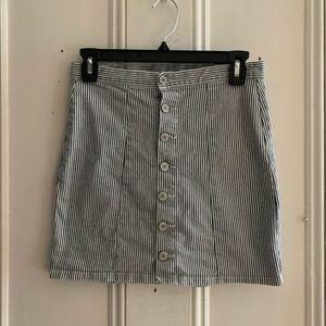 Brandy Melville Pinstriped Mini Skirt